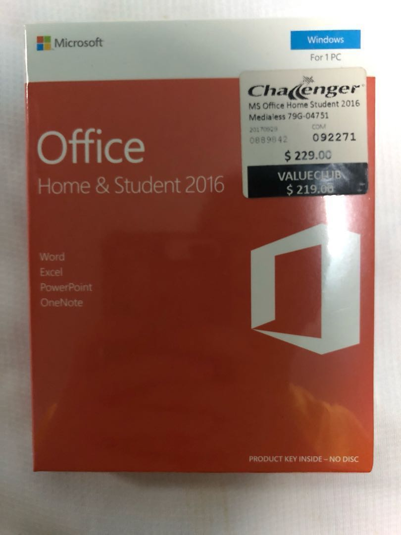microsoft office home and student 2016 for 1 windows