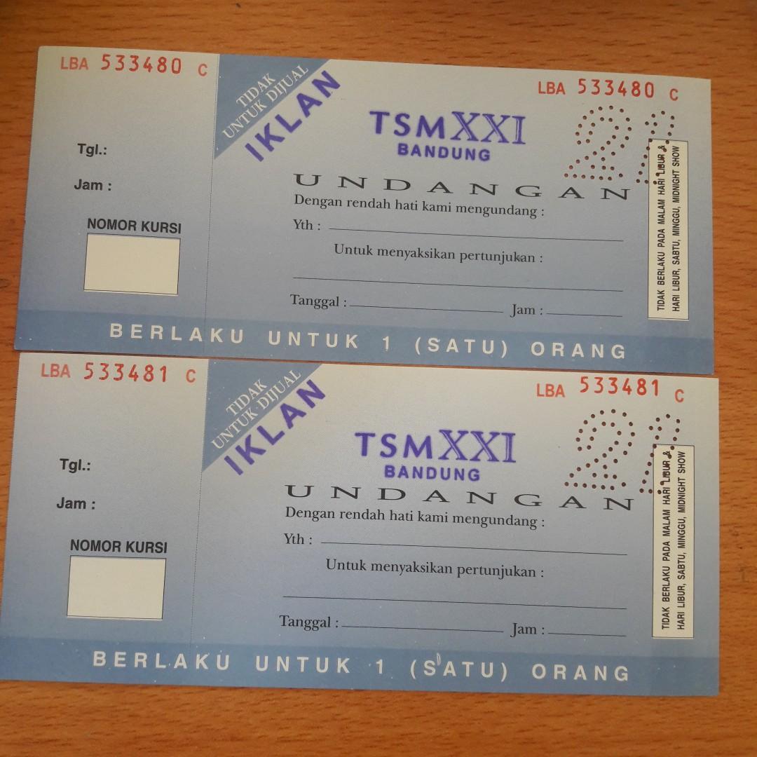 New Tiket Voucher Nonton Xxi Di Tsm Harga Satuan Tickets Vouchers