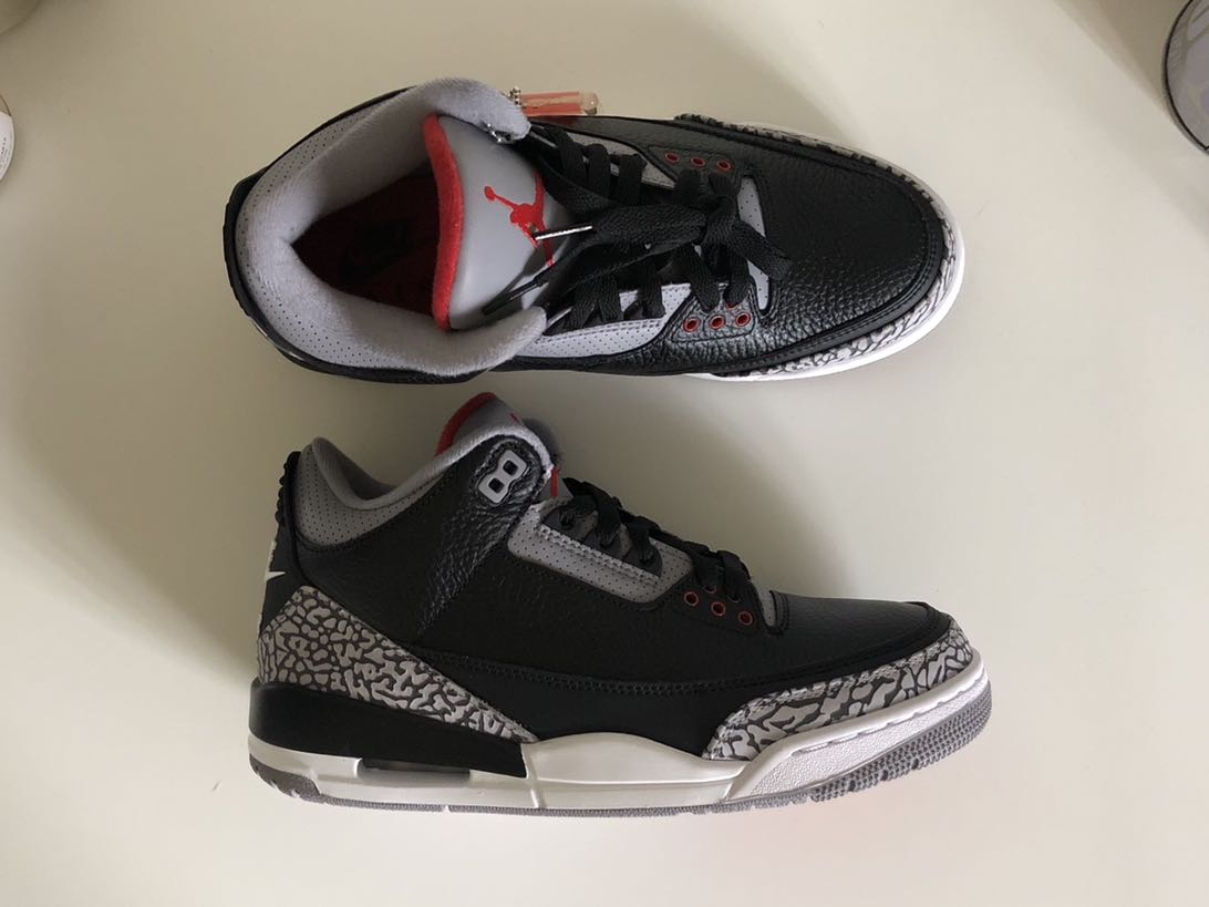 033f8bd78ce Nike Air Jordan 3 Black Cement, Men's Fashion, Footwear, Sneakers on ...
