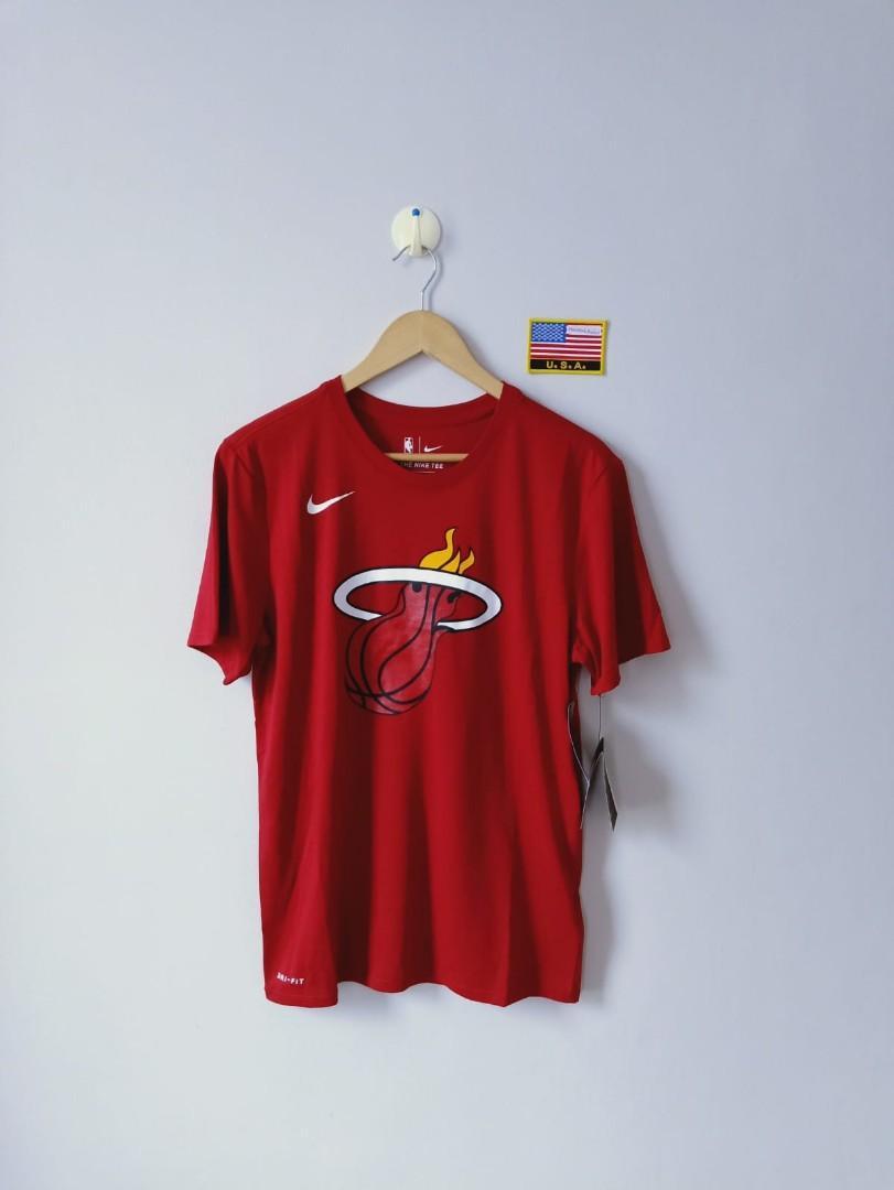 huge selection of e492e a8fc4 Nike nba miami heat dri fit basketball tee, Men's Fashion ...