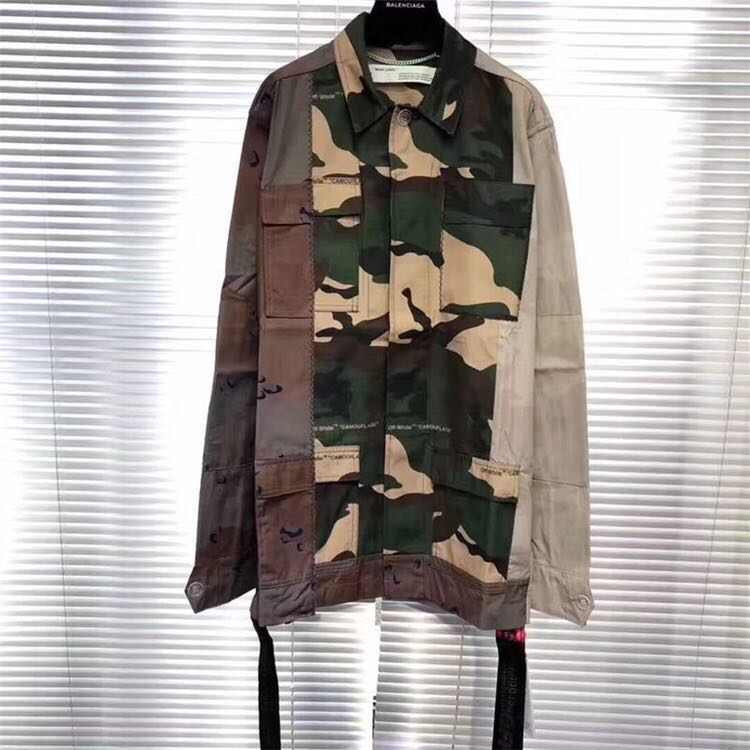 464b474b9e4b0 Off White Reconstructed Camo Field Jacket, Men's Fashion, Clothes ...