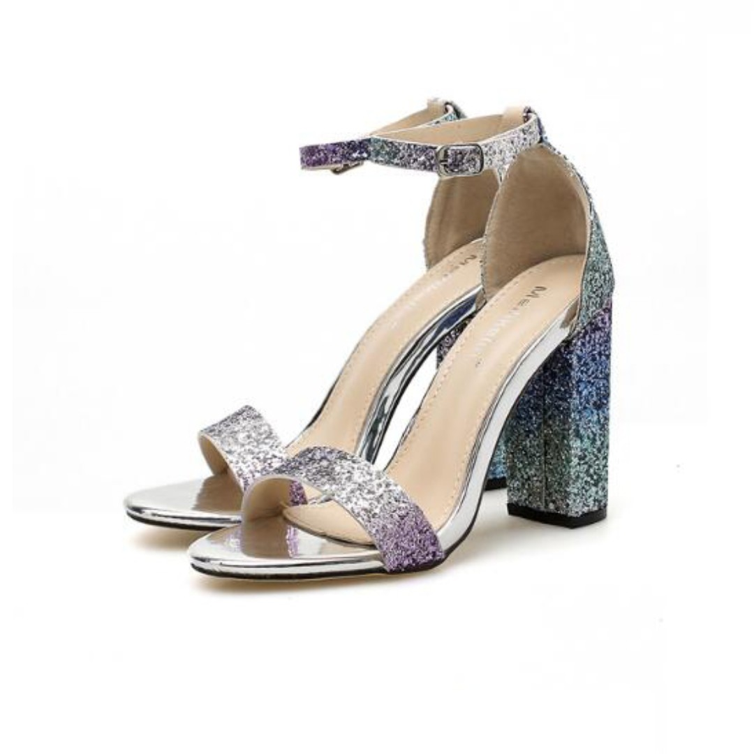 088d57789e7b Platform High Heels Women Wedding Peep Toe Sequins Sandals Party ...