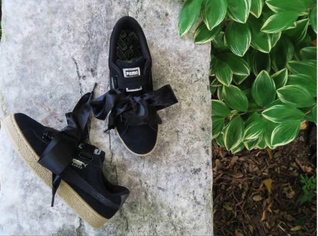 the latest 3721e 0919c Puma Suede Heart Safari Black Metallic Sneakers, Women's ...