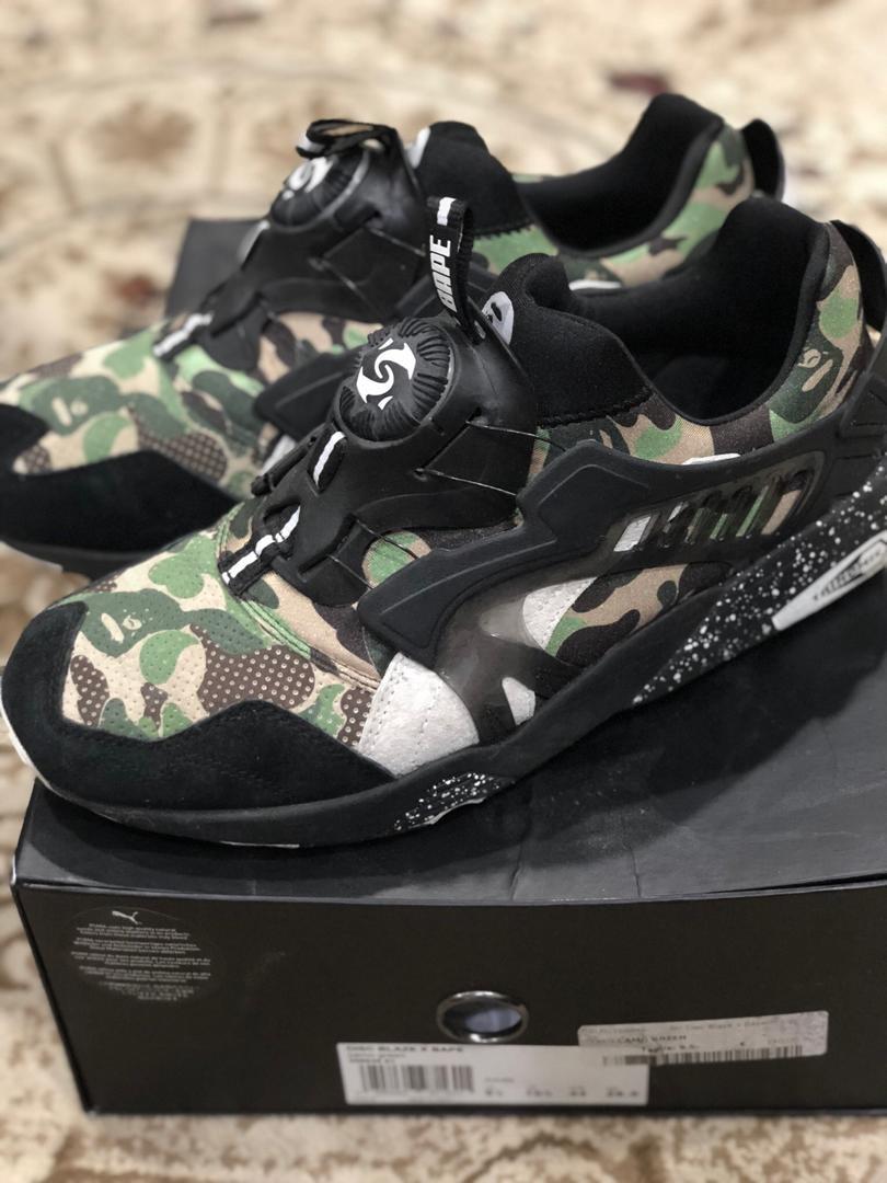 ef64d05231ea6 Puma X Bape Disc Blaze camo green, Men's Fashion, Footwear, Sneakers ...
