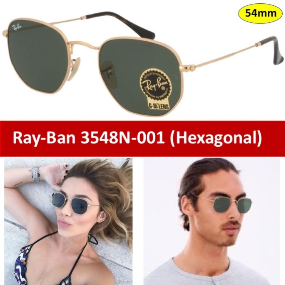 180eef290b7 RayBan 3548N-001 (Hexagonal Flat Lenses)