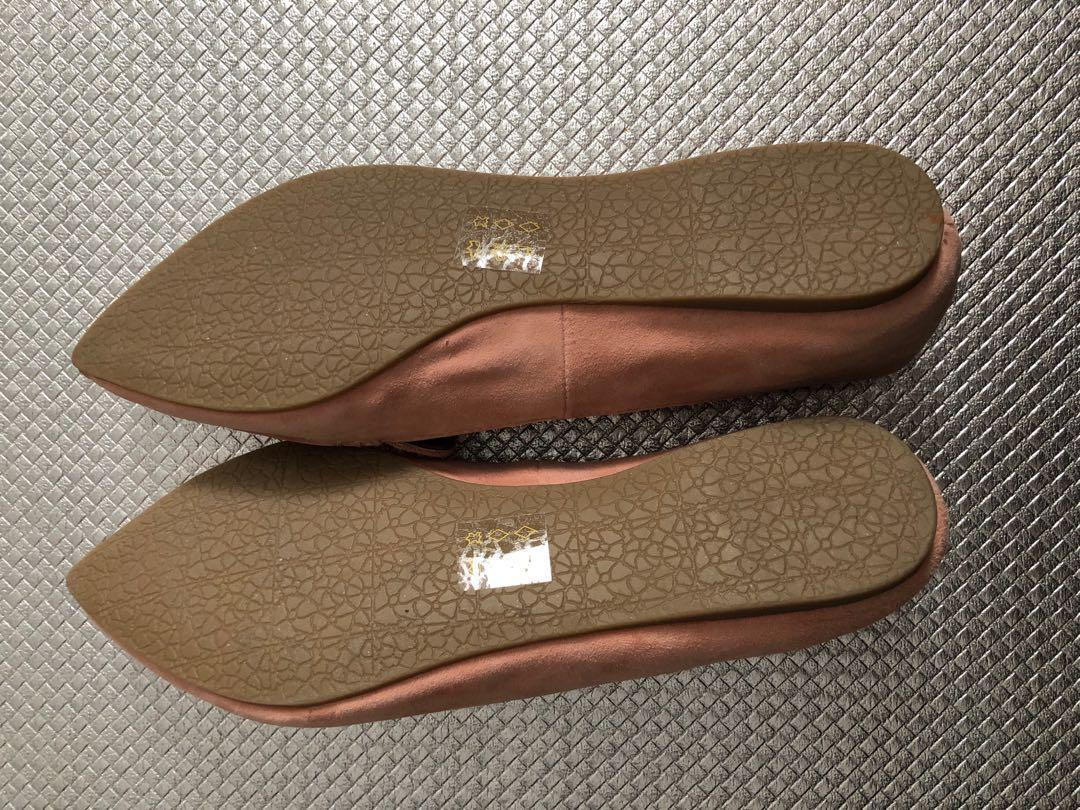 Steve Madden Feather Rose Suede Flat Shoes