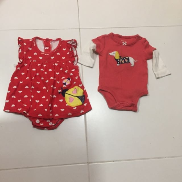 b5c404b89 Total 8 pcs) Preloved used bundle newborn to 6 months old baby girl ...