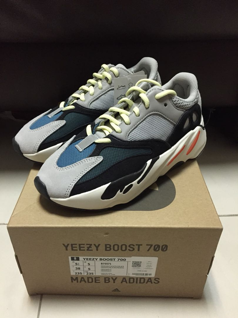UK 5 全新港行有單 Adidas Yeezy Boost 700 Kanye West Wave Runner solid grey B75571 456d50894