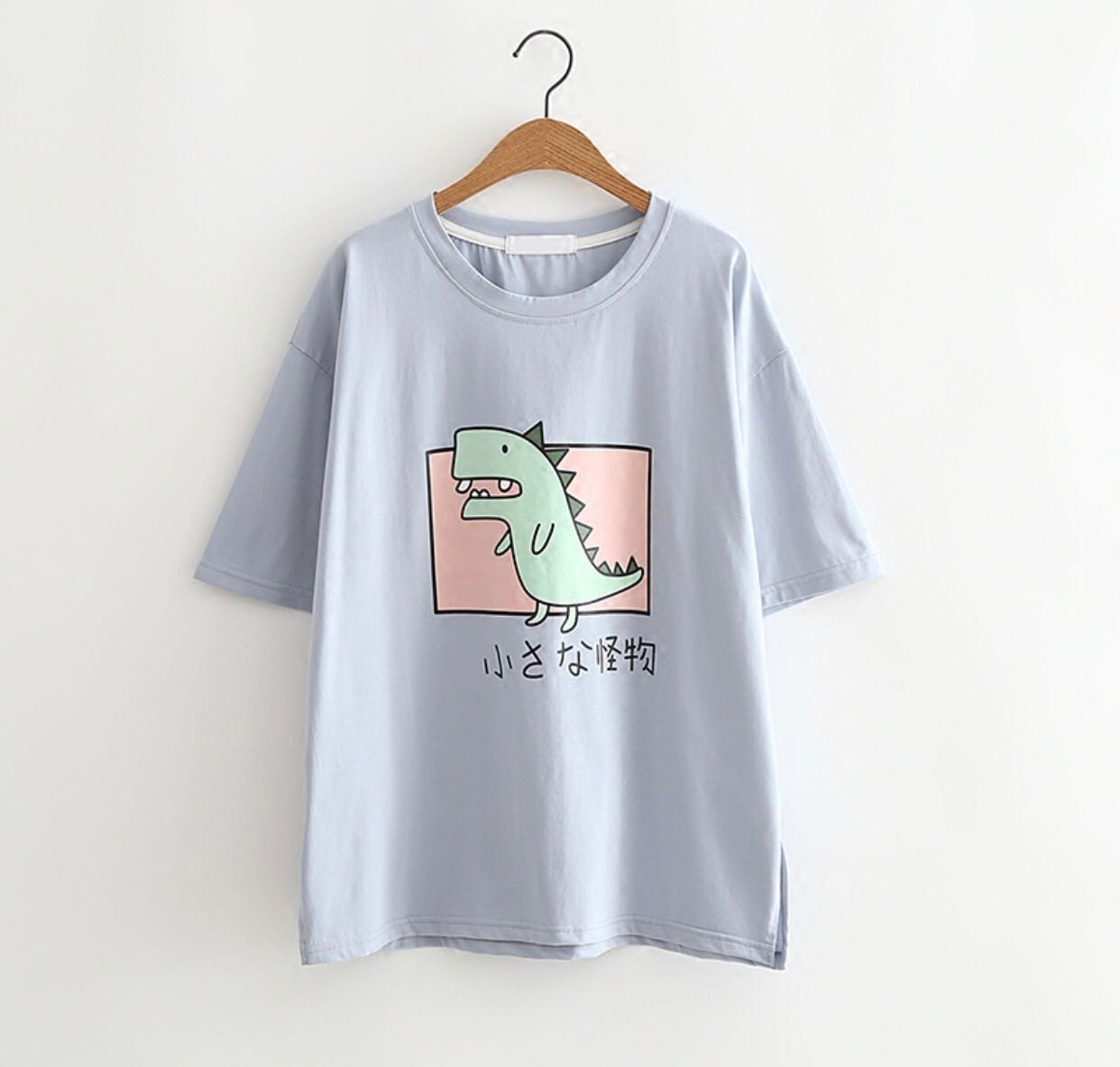 aa32ccb6 ulzzang cute dinosaur graphic tee, Women's Fashion, Clothes, Tops on ...