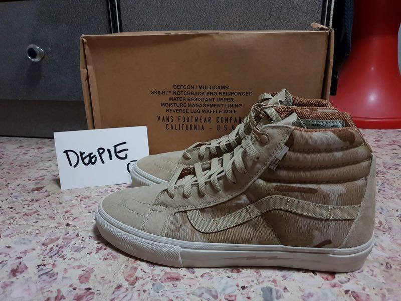 99e382718b Vans Defcon Sk8 Hi Notchback Brown Camo