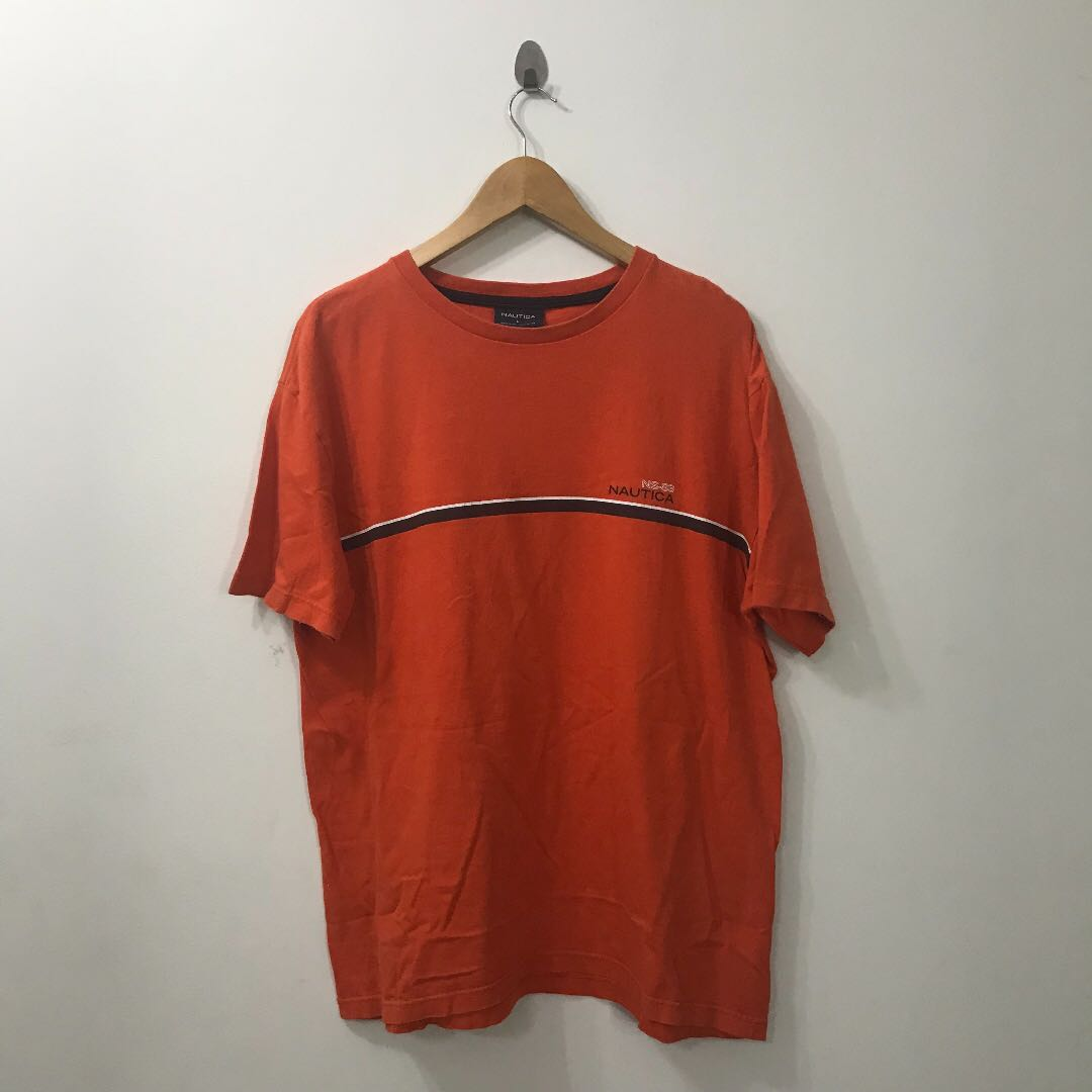 e8c8451f6b546 VINTAGE ORANGE NAUTICA, Men's Fashion, Clothes, Tops on Carousell