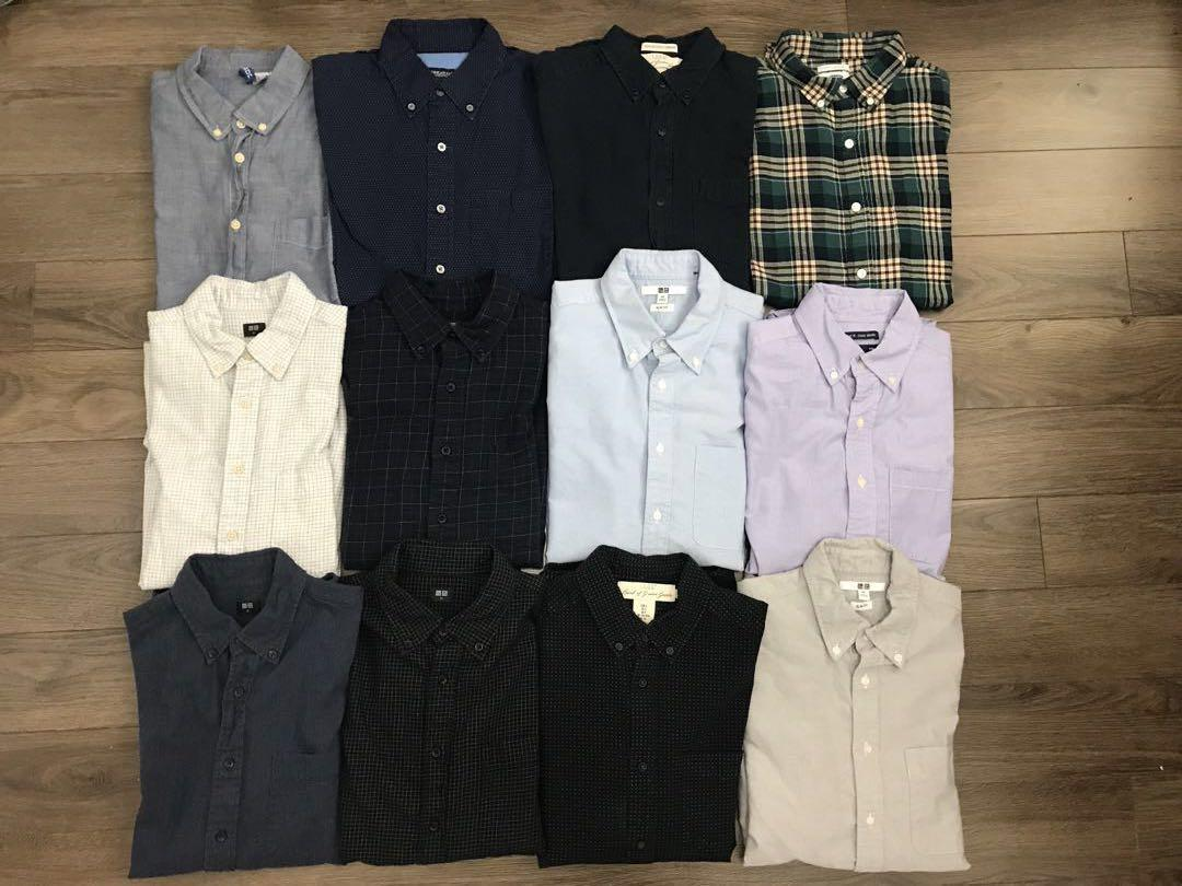 XS Long Sleeve Shirts Good Condition Uniqlo H&M & Others