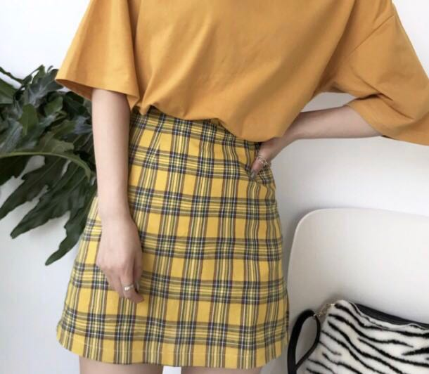 0216ffff82 Yellow Plaid Skirt NFSATM, Women's Fashion, Clothes, Dresses ...
