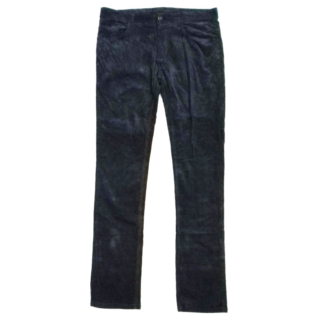 9558e7ea Zara Man Dark Grey Slim Fit Stretch Corduroy Trouser W34, Men's ...