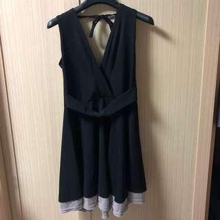 🚚 黑色美背洋裝