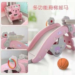 2 in 1 Pink Rocking Horse Slide