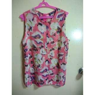 Sleeveless Floral Top (M)