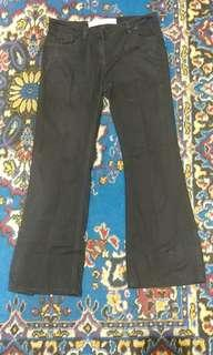 Jeans Denim Next Bootcut Hitam wideleg branded #oktosale