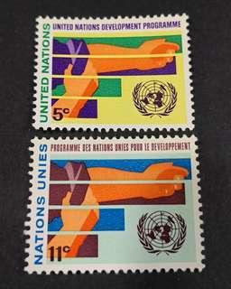 United Nation New York 1967. Development Programme complete stamp set.