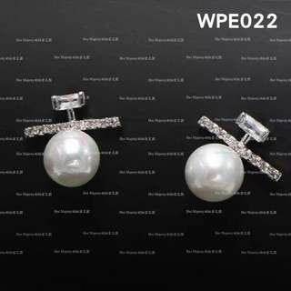 【Her Majesty的秘密花園】韓版珍珠鑲鑽925銀針耳針耳環耳飾WPE022