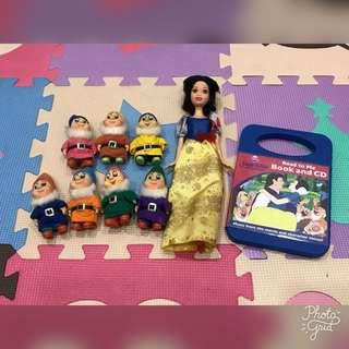 Snow White and the Seven Dwarfs (Dolls, Book and CD)