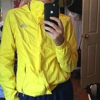 Yellow north face windbreaker