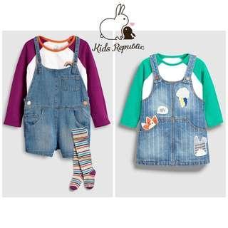 KIDS/ BABY - Dungaree/ Tshirt/ Tights/ Pinafore/ Tee/ Set