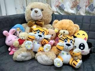 Big Teddy Bear and Friends