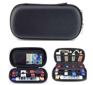 Organizer Case Storage Hard Drive Powerbank Smartphone USB Headset SD Card Charger Cable