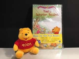Disney Winnie the Pooh 毛公仔 + 書 連CDs