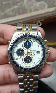 Vintage seiko sq50 chronograph alarm