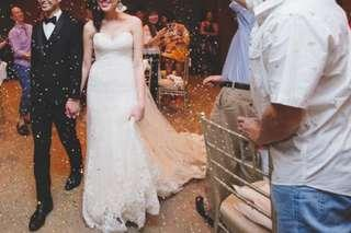 Pronovias White One Mermaid Wedding Gown