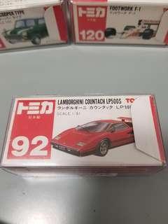 TOMICA TOMY No.92 LAMBORGHINI 日本製