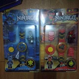 BRANDNEW NINJAGO with WEAPONS SPINNING WATCH
