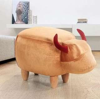 Lucky gold cow furniture stool