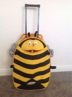 SALE‼️Auth. Sammies by Samsonite Funny Face Upright Bumble Bee Trolley Luggage Bag