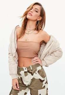 Missguided Nude Tube Top