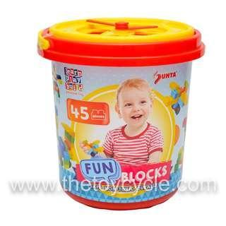 🚚 45 pcs Plastic Blocks Tub