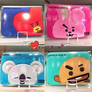 """[PO] OFFICIAL BT21 MACBOOK 13"""" LAPTOP SLEEVES"""