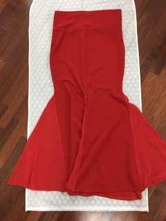 Red Mermaid Skirt - Giving away for free