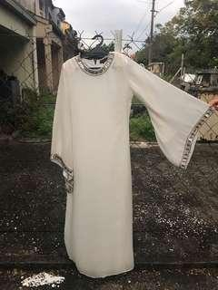 Grecian Bell Sleeve Jubah with Beading