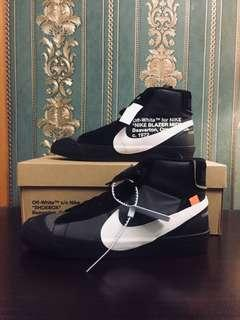 WTB NIKE BLAZER x OFF WHITE black and orange