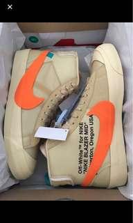 WTB NIKE BLAZER x OFF WHITE ORANGE AND BLACK