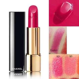 Chanel Rouge Allure Luminous Intense Lip Colour 3.5g in box Shade: 93-EXALTÉE Lipstick