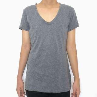 SALE! V-neck Gray Top T-Shirt