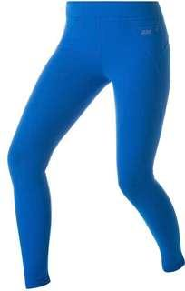 Authentic as new Lorna Jane Amy bright blue full length tights pants gym workout pants size xs front zip pocket
