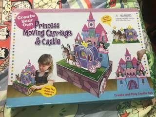 公主舞動馬車與城堡親子玩具 Princess Moving Carriage & Castle