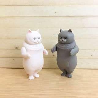 排隊貓咪 貓咪 扭蛋 公仔