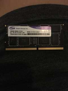Team 16gb ddr4 2133MHz laptop ram