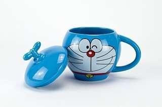 多啦A夢杯 叮噹杯 Doraemon 300ml ceramic coffee mug cup 連蓋咖啡杯 叮噹精品